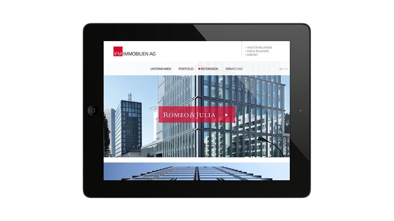 IFM Immobilien AG - Website Design