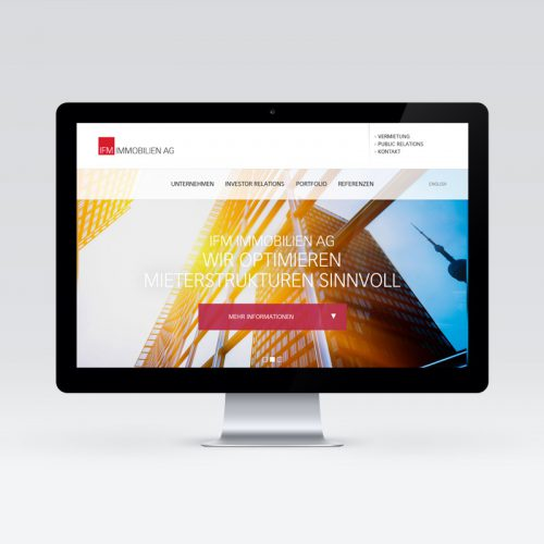 IFM Immobilien AG - Website Design