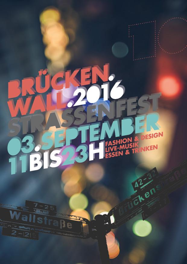 Brückenwall 2016 - Poster Straßenfest
