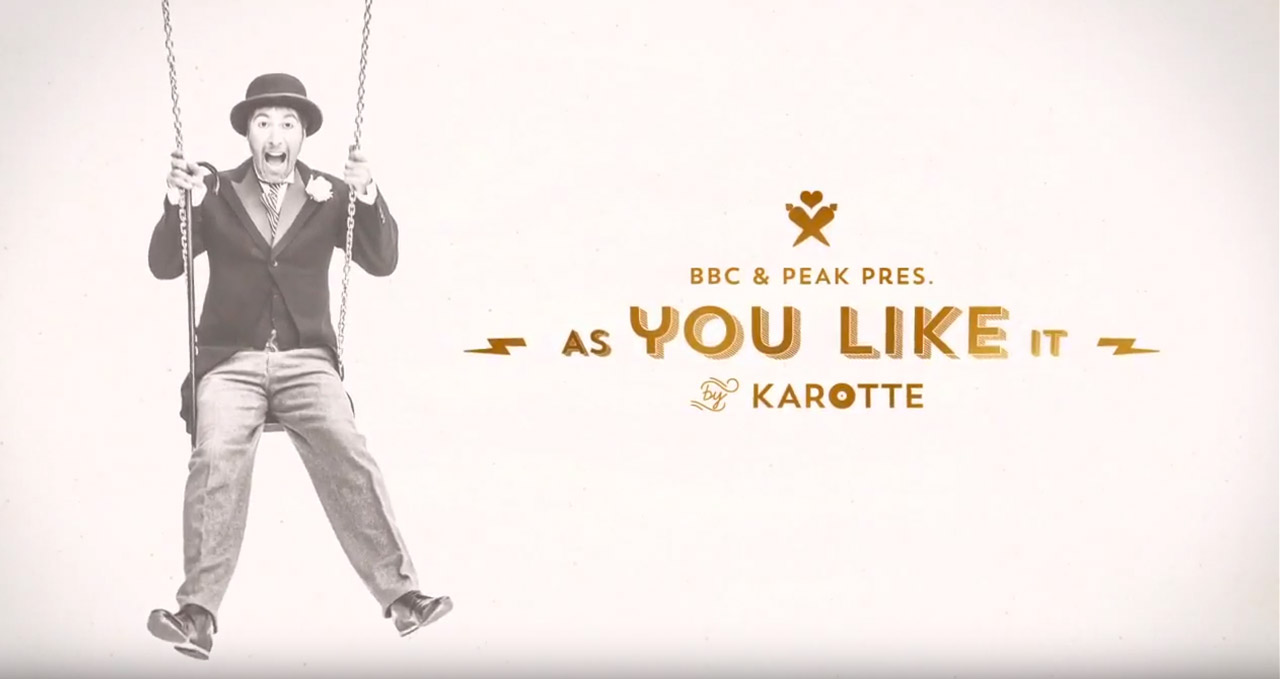 AS YOU LIKE IT by Karotte - Video Swing