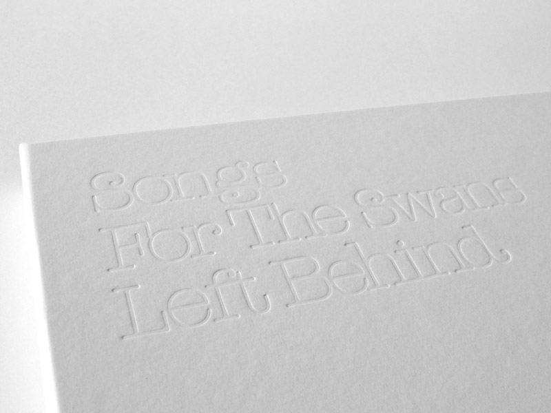 Songs for the Swans left behind - Vinyl Packaging Design